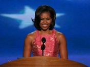 Michelle Obama deslumbra en convencion.