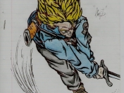 Dragon Ball Z: Trunks y Gohan (dibujos)