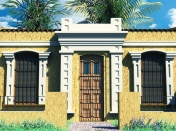 Mi ultimo render 03 (Autodesk Maya) Colonial House