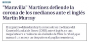 Maravilla-Murray: un espectáculo con muchas alternativas