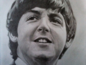 Retrato de Paul McCartney a lápiz (propio).