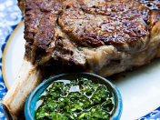 Cowboy Steak con Chimichurri