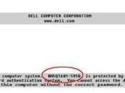 Bios password dell por service tag
