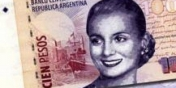 Evita a los billete de 100
