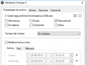 Cambiar atributos de archivos en Windows
