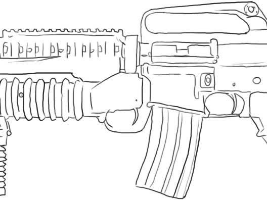 como dibujar la glock 17 9mm la ak 47 y la m16 assault rifle - arte