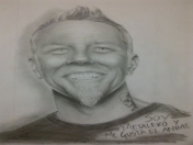 Retrato realista de James Hetfield a lapiz (Metallica)