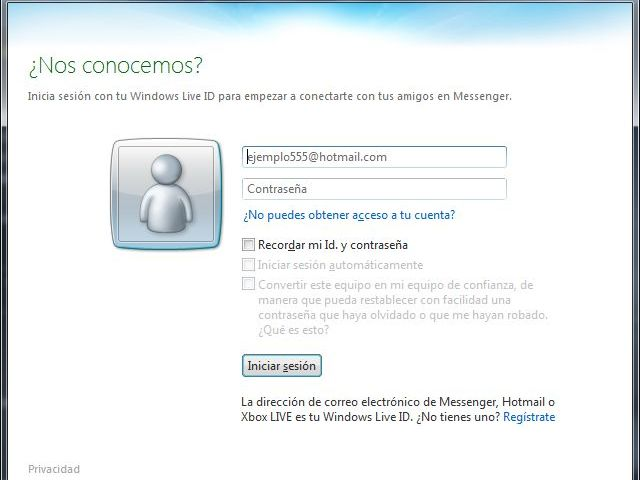 windows live messenger no puede iniciar sesiónerror 8100030 e