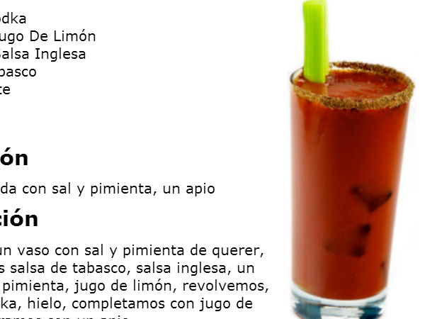 Como preparar un bloody mary tragos y cocteles recetas for Coctel bloody mary