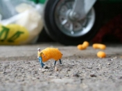 Fotos, proyecto little people por Slinkachu