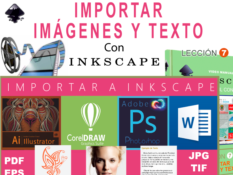 Inkscape Book Cover Tutorial : Importar imágenes y texto a inkscape e books