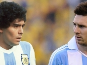 Messi y Maradona en la Seleccion ideal