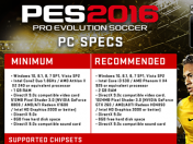 Sorprendentes requisitos PES 2016