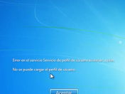 Solucion error servicio de perfil usuario en Windows 7