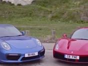 Ferrari 488 GTB vs Porsche 911 Turbo S: info+imagenes+videos