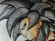 Dibujo final Goku ssj4 Dragon Ball Zartiex [HD]