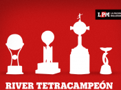 River primer tetracampeon internacional, bosteros abstenerse